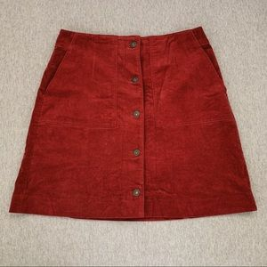 Uniqlo red Corduroy skirt
